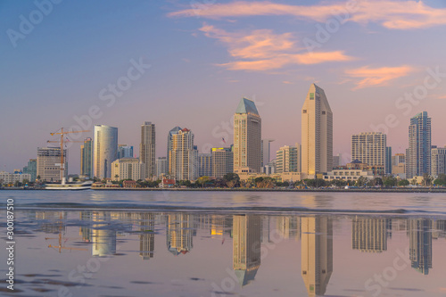 Keuken foto achterwand Abu Dhabi Downtown San Diego skyline in California, USA