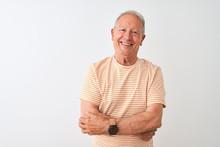 Senior Grey-haired Man Wearing...
