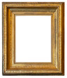 Antique photo picture frame isolated on white background