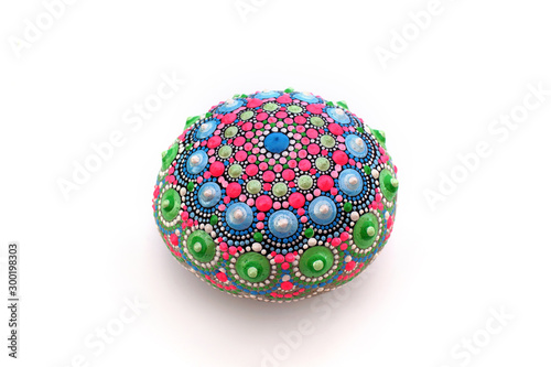 Fotografie, Tablou  Beautiful hand painted mandala rock