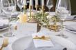 Leinwandbild Motiv Beautiful table setting with floral decor