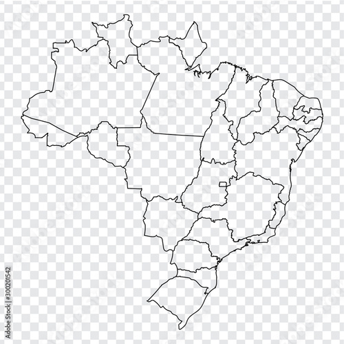 Fototapeta Blank map of Brazil