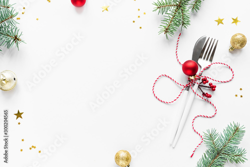 Obraz Christmas Table Setting - fototapety do salonu