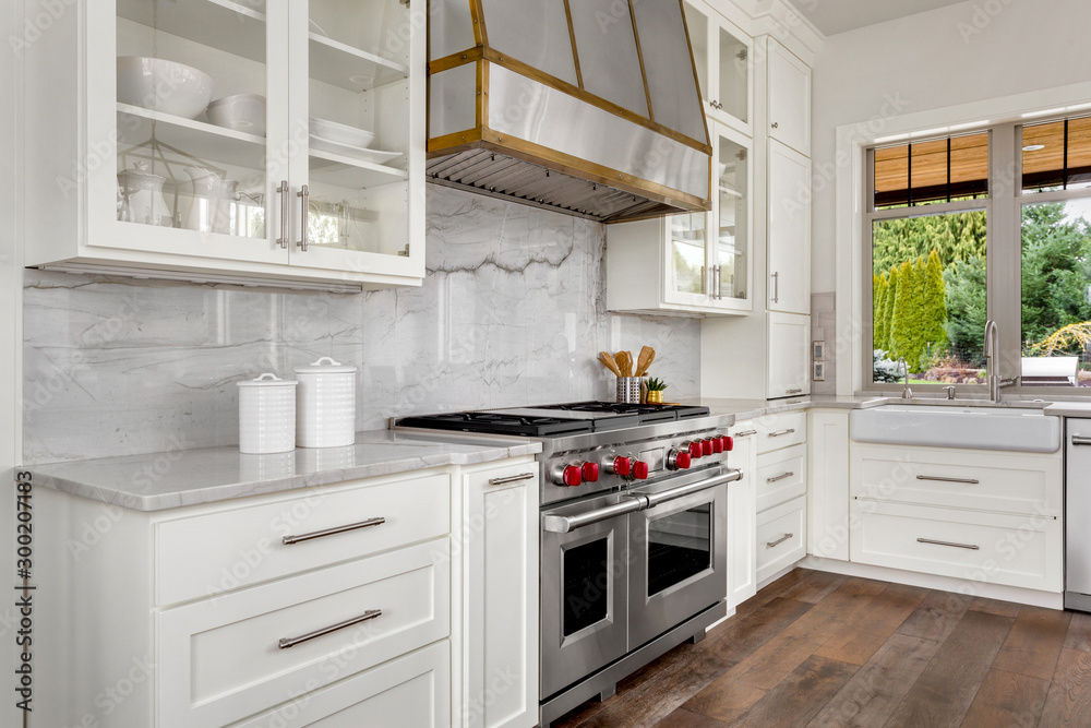 Fototapeta Kitchen detail in new luxury home