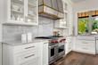 Kitchen detail in new luxury home