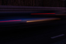 Light Trails From The Cars On ...