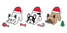 Dog Vector Christmas French Bu...