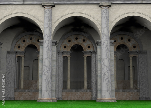 Ancient Roman Temple - 3D Fototapet
