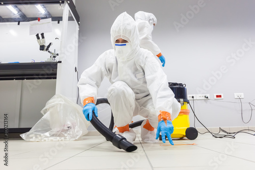 Decontamination of a room after an incident Wallpaper Mural