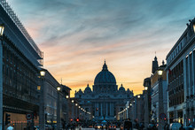 Saint Peter Basilica And Stree...
