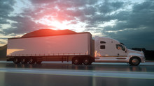 3D Design Semi Trailer Truck W...