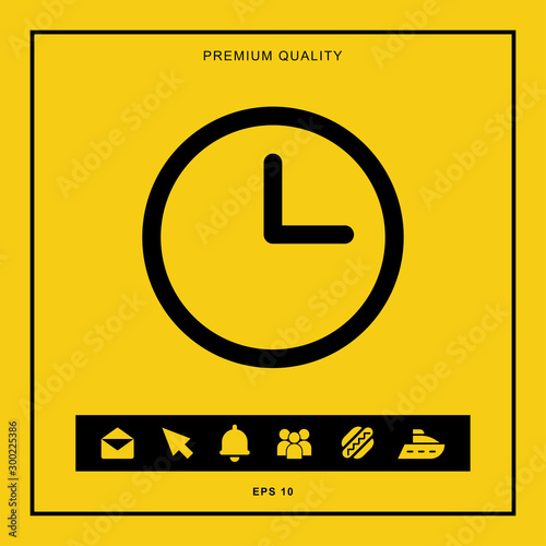 Clock icon for web and mobile