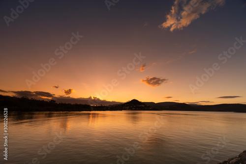 Photo Airlie Beach Australia colorful sunset over the sea