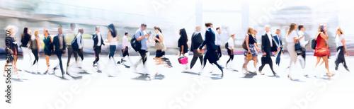 Canvas-taulu Walking people blur