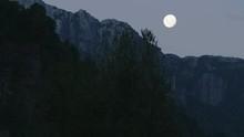 Full Moon Establishing Shot In...