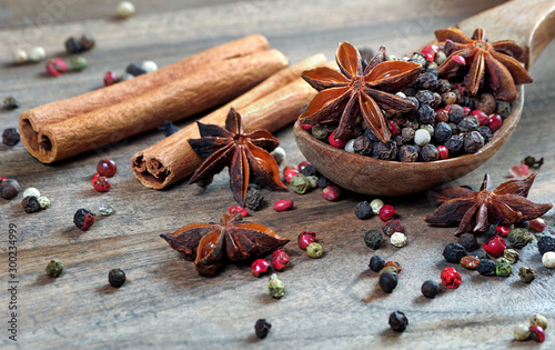traditional spices Wallpaper Mural