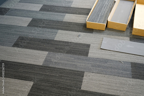 plakat carpet installed in the office building