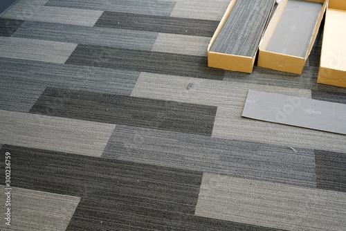 obraz lub plakat carpet installed in the office building