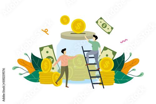 Fotografía Saving money, Financial, banking