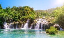 Waterfalls In Krka National Pa...