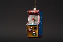 Christmas Tree Toy On Dark Bac...