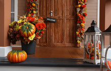 House Entrance Decorated For T...