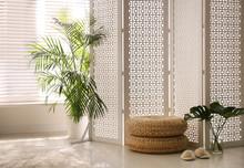 Stylish Room Interior With Whi...