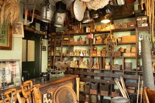 Obraz Old fashioned Victorian shop at Black Country Museum Stafford England UK - fototapety do salonu