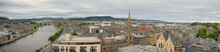 A Panorama Of The City Of Inverness In Scotland, UK, Including The River Ness.