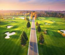 Road Through The Golf Course A...