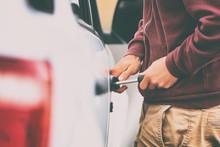 Car Theft Thief Stealing Vehic...