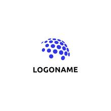 Dotted Style Globe Logo Design