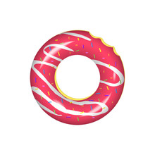 Swim Ring Icon.Rubber Ring Isolated