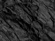 Black Rock Background. Dark Gray Stone Grunge Background. Rock Texture.