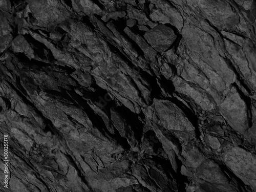 Fototapeta Black rock background. Dark gray stone grunge background. Rock texture. obraz na płótnie