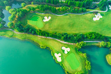 Aerial View Of Golf Course And...