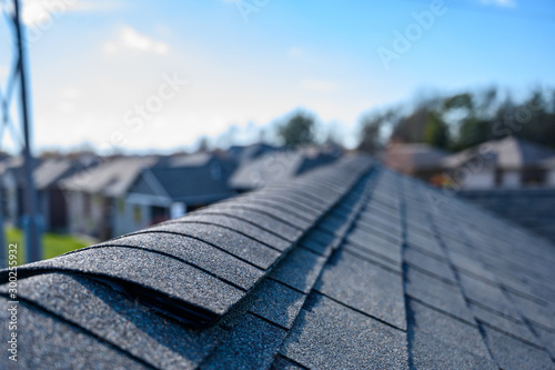Fotografie, Tablou Asphalt shingle room with ridge cap