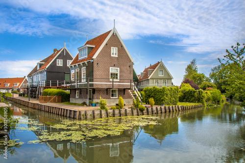 Fényképezés Traditional waterfront houses along canal