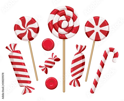 Christmas candy lollipops Canvas Print