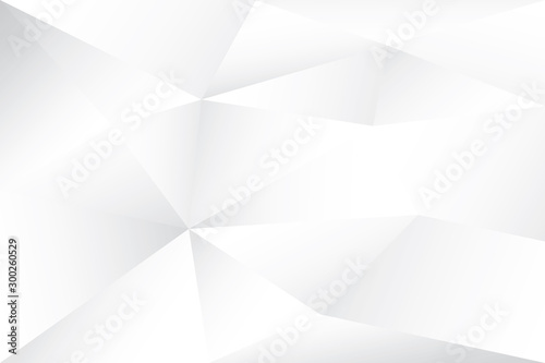 Fotomural  Abstract geometric white and gray color background