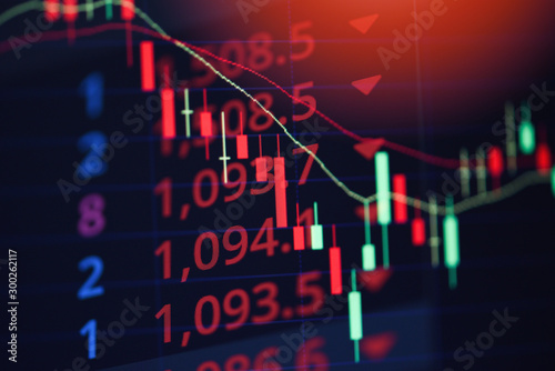 Fotografía Stock market exchange loss trading graph analysis investment indicator business