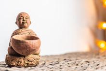 Home Decorative Standing Miniature Monk Statue