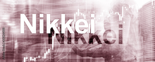 Valokuvatapetti The Nikkei 225 Stock Average Index. Website Banner Header.