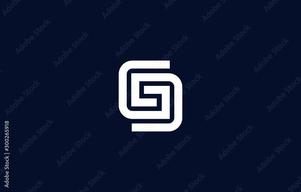 Fototapety, obrazy: Initial based clean and minimal G Logo. GG letter creative fonts monogram icon symbol. Universal elegant luxury alphabet vector design