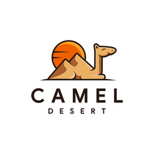 Camel And Desert Logo Icon