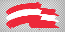 Flag Of Austria, Brush Stroke ...