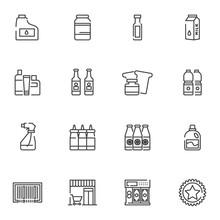 Shopping Line Icons Set. Linea...