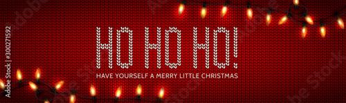 Christmas background, banner, frame, header, background or greeting card design Fototapet
