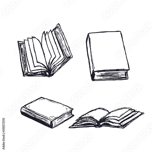 Books hand drawn Canvas-taulu