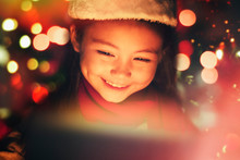 Closeup Smiling  Little Girl W...